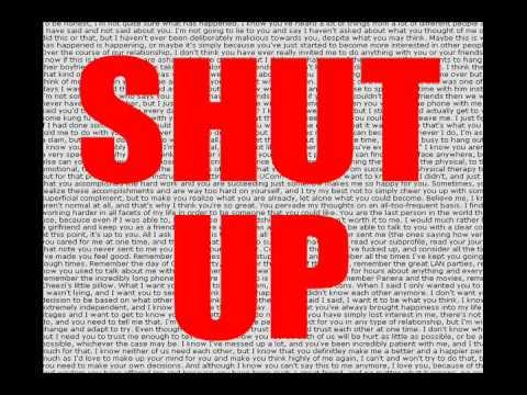 Shut Up sound clip