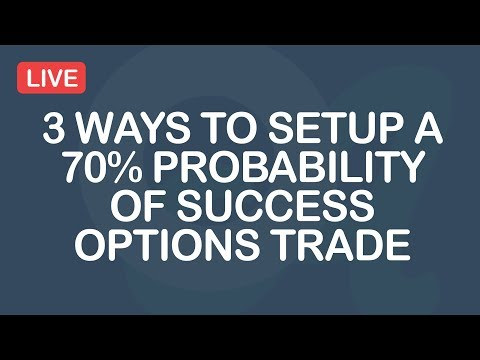 3 Ways To Setup A 70% Probability Of Success Options Trade
