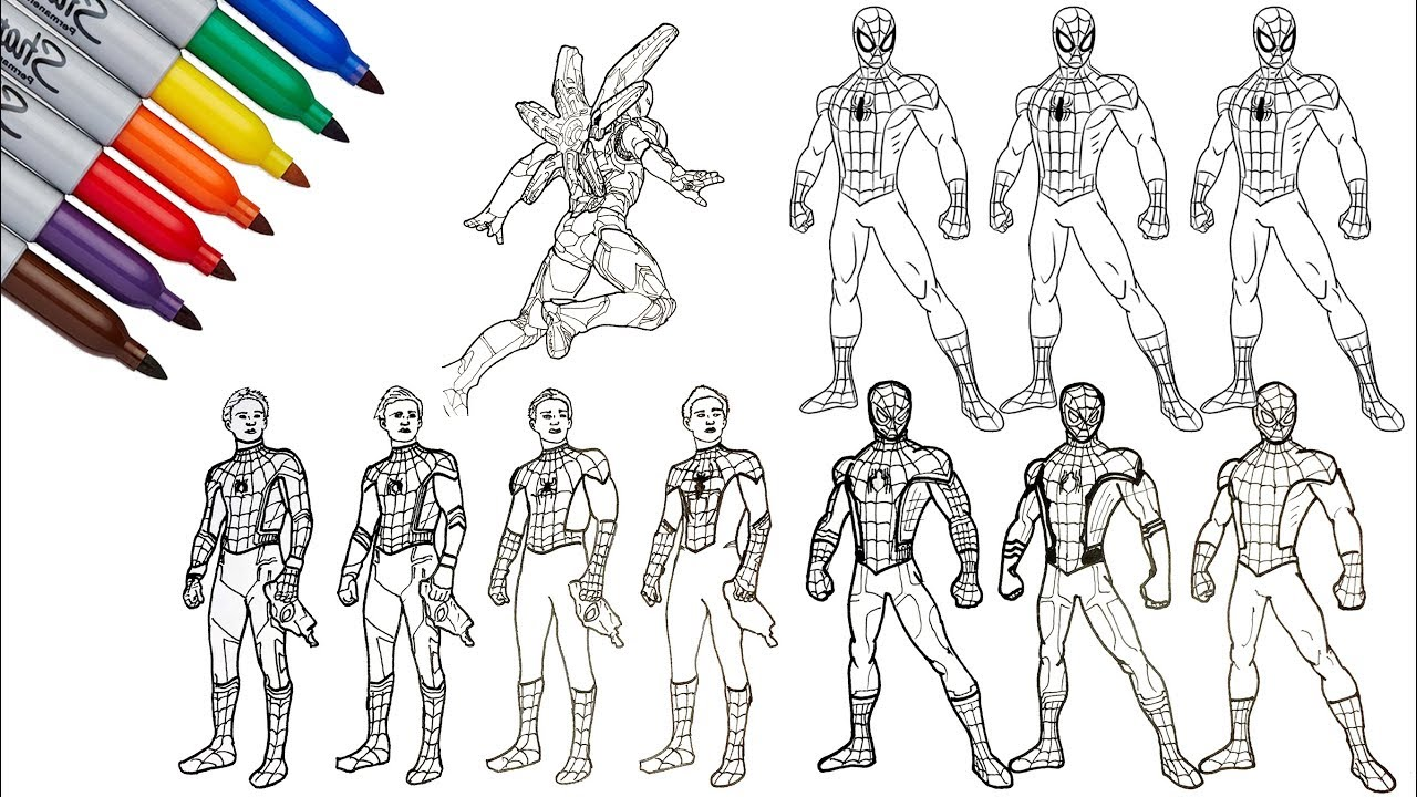 Ultimate Spider-Man And Spiderman Homecoming Drawing and ...