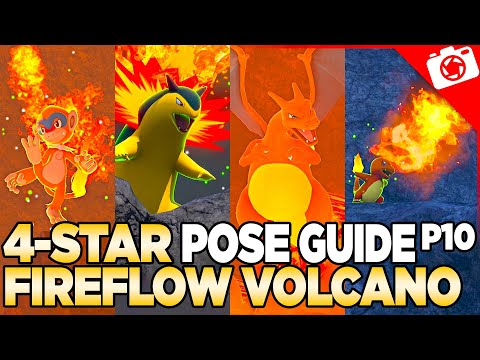 Fireflow Volcano 4-Star Pose & Request Guide   New Pokemon Snap