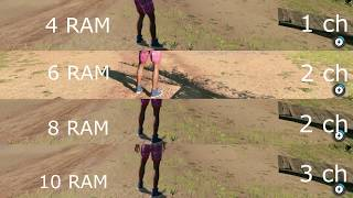 10GB RAM vs 8GB RAM vs 6GB RAM vs 4GB RAM -  test loading games