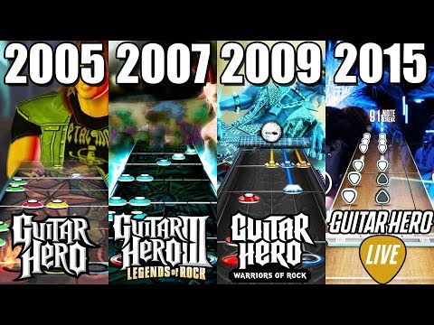 Evolution of Guitar Hero Games (2005-2018)