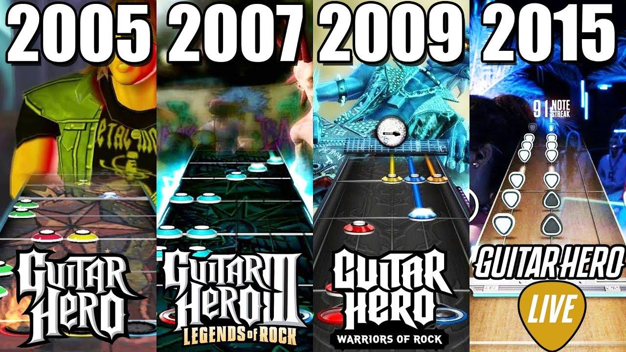 Evolution Of Guitar Hero Games 2005 2018 Youtube