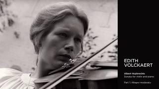 Edith Volckaert - Albert Huybrechts, Sonata for violin and piano