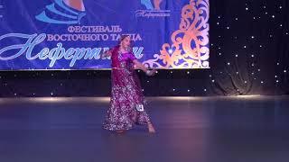 Настя Заватская. Индийский танец. 2-й год обучения. Симферополь, фестиваль восточн. танца Нифертити.