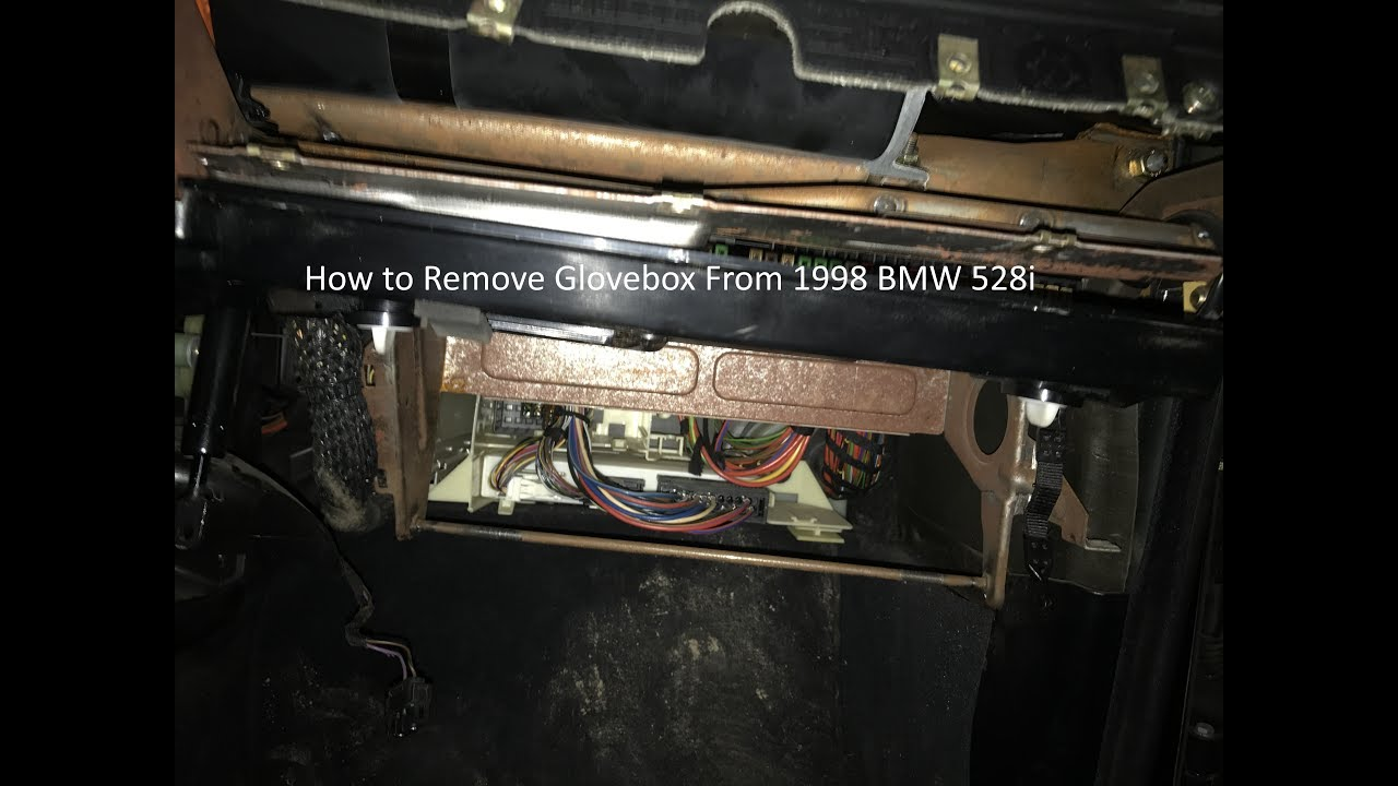 how to remove glovebox: 1998 bmw 528i