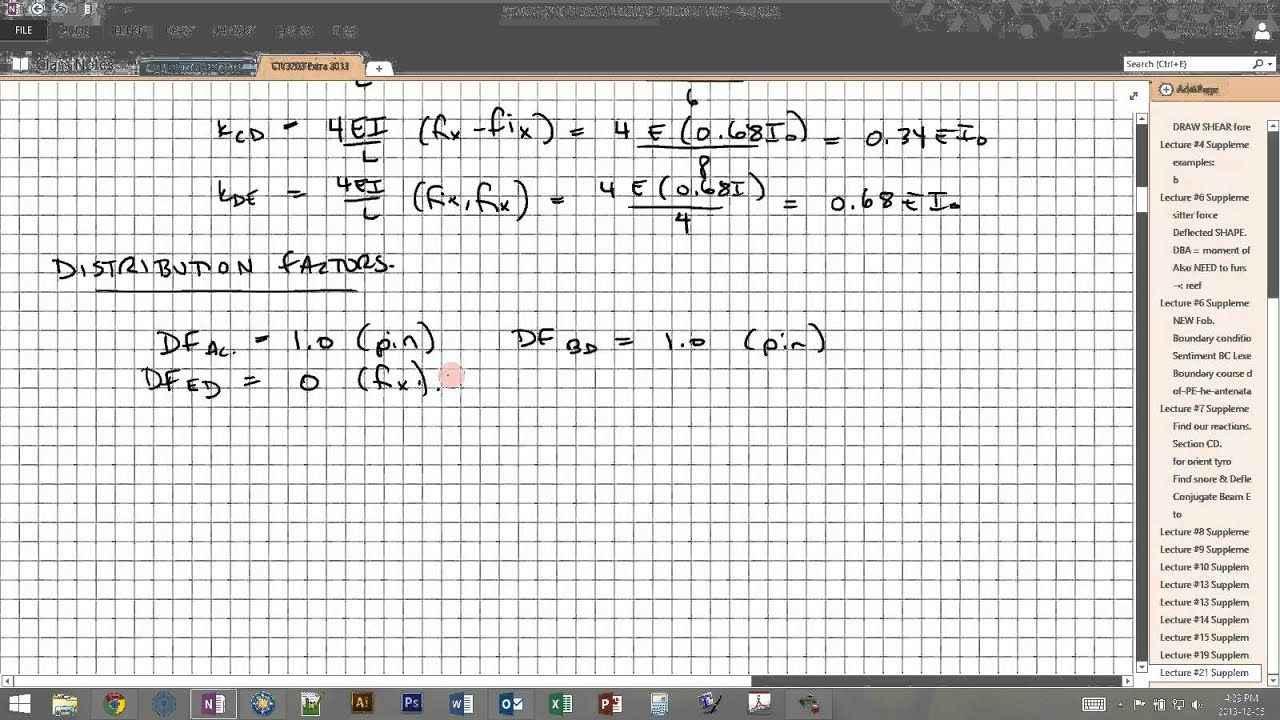 EXAMPLE - Moment Distribution Method (Hardy Cross Method) for an ...