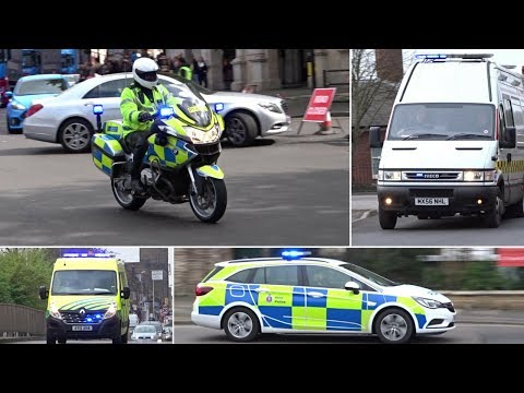 British Emergency Services Responding - BEST OF - MARCH + APRIL - PART 1