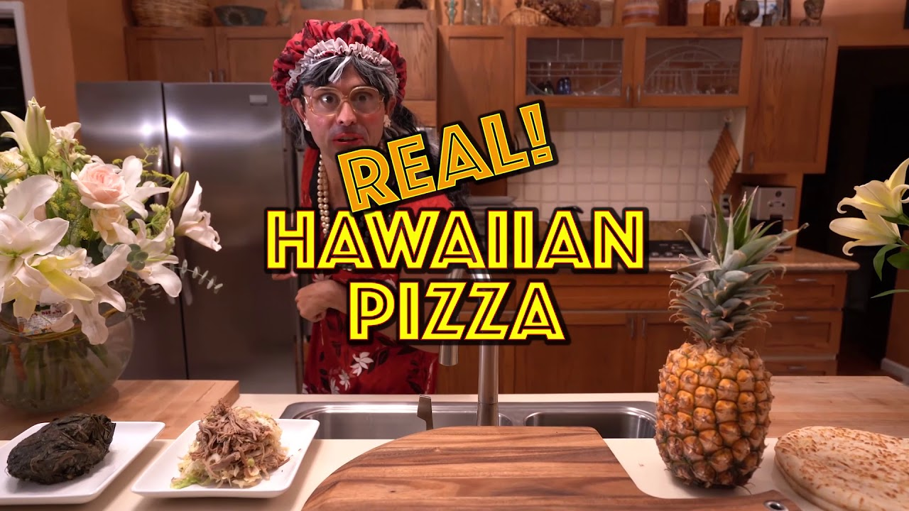 HOW TO MAKE REAL HAWAIIAN PIZZA - AUNTIE'S COOKING SHOW