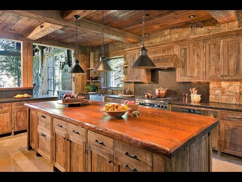 Reclaimed Wood Kitchen Cabinet Doors Ideas - YouTube