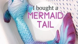 I bought a MERMAID TAIL! - Finfolk Productions Fabric Tail Unboxing