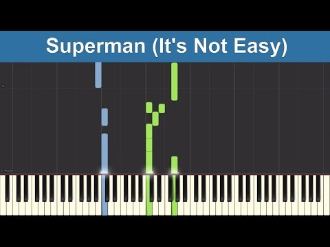 Superman (It's Not Easy) - Five for Fighting - Synthesia Piano Tutorial