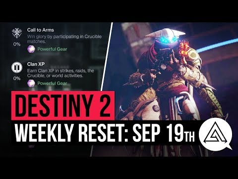 Destiny 2 weekly reset for September 19 – Nightfall, Challenges