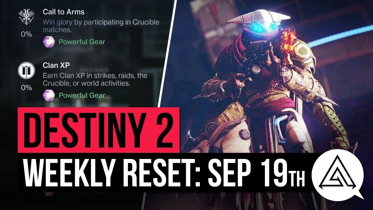 Destiny 2 weekly reset for September 19 – Nightfall