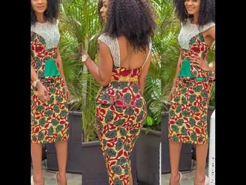 African Fashion Short Dresses Skirts Blouses In African Print