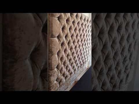 Alexandra Wall Feature Headboard Bedstead *** Crushed Velvet ***