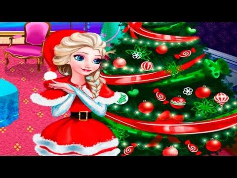 Disney Frozen Elsa Christmas Home Decoration New Year 2017 Game Online - 동영상