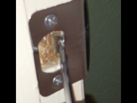 How to adjust door strike plate on rattling door. & How to adjust door strike plate on rattling door. - YouTube