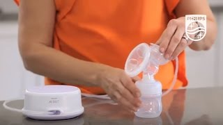 Unboxing the AVENT Single electric breast pump and how the unit works | Philips | SCF332