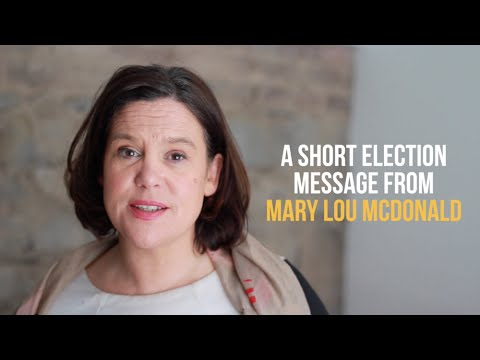 Let's make a difference.  Let's build the Republic – Mary Lou McDonald