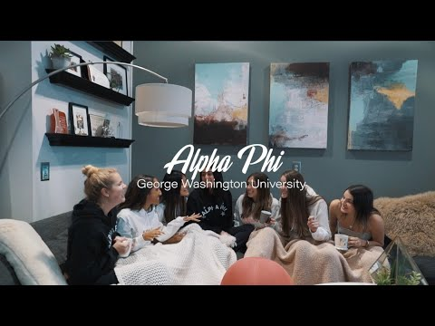 George Washington University Alpha Phi Recruitment Video 2020