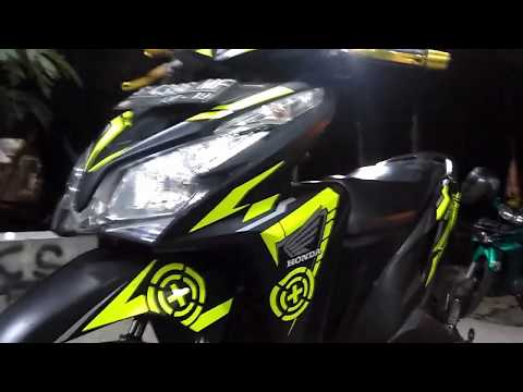 cutting sticker VARIO125 ( cara pasang striping )