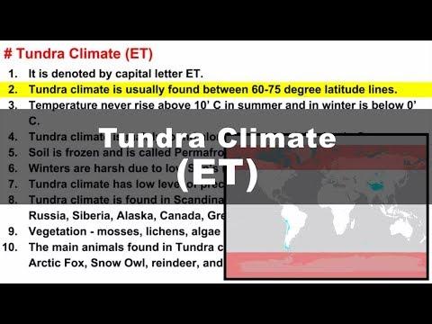 Koppen Scheme - Tundra Climate (ET) | UPSC IAS Geography