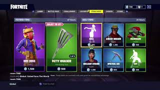 Fortnite *NEW* Beef Boss Skin, flying saucer glider and patty whacker harvesting tool