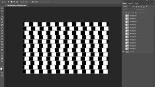 Crazy Optical Illusion - The Café Wall Illusion
