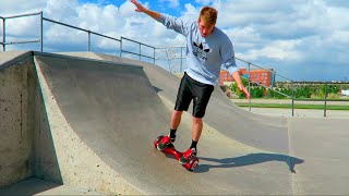 Hoverboarding At The Skatepark!