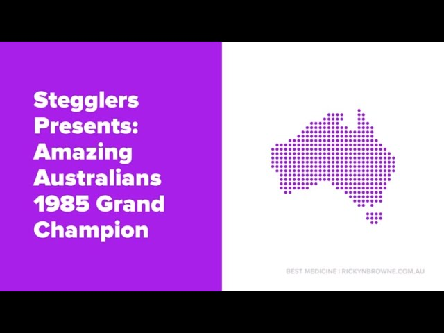 Amazing Australians 1985 Grand Champion - Largest Turd Record Holder