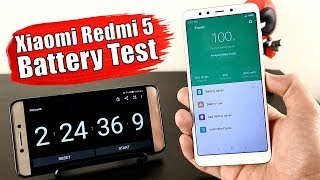 Xiaomi Redmi 5   Battery Drain Test And Charging Time