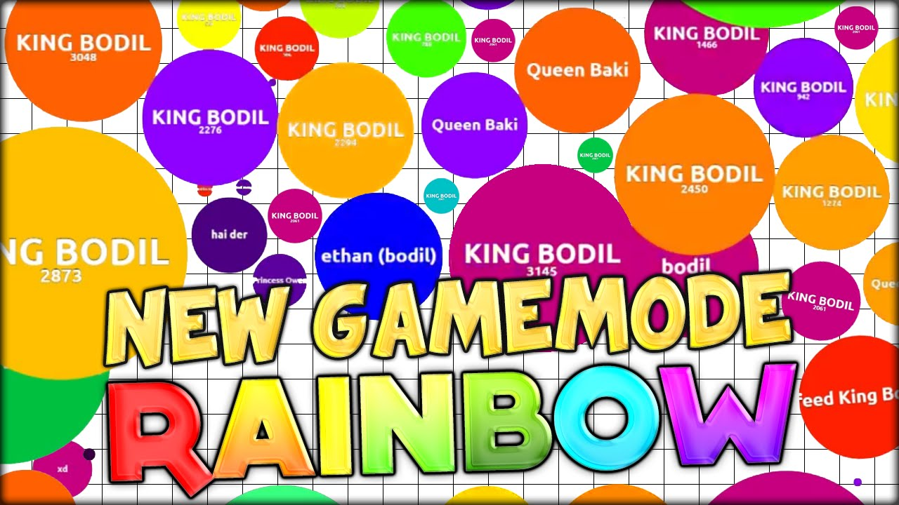 insane 31 000 mass record in new agario gamemode rainbow agar io