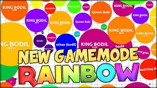 INSANE 31,000+ MASS RECORD! in NEW AGARIO GAMEMODE: RAINBOW AGAR.IO! AWESOME COLORS! (Agario #60)