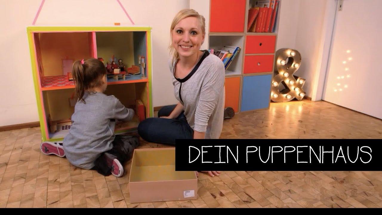 diy puppenhaus selber basteln youtube. Black Bedroom Furniture Sets. Home Design Ideas