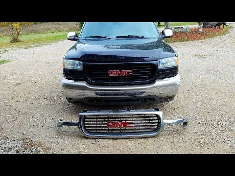 2004 Gmc Sierra 1500 >> 2000 GMC Sierra: Replacing The Grill and Lights - YouTube