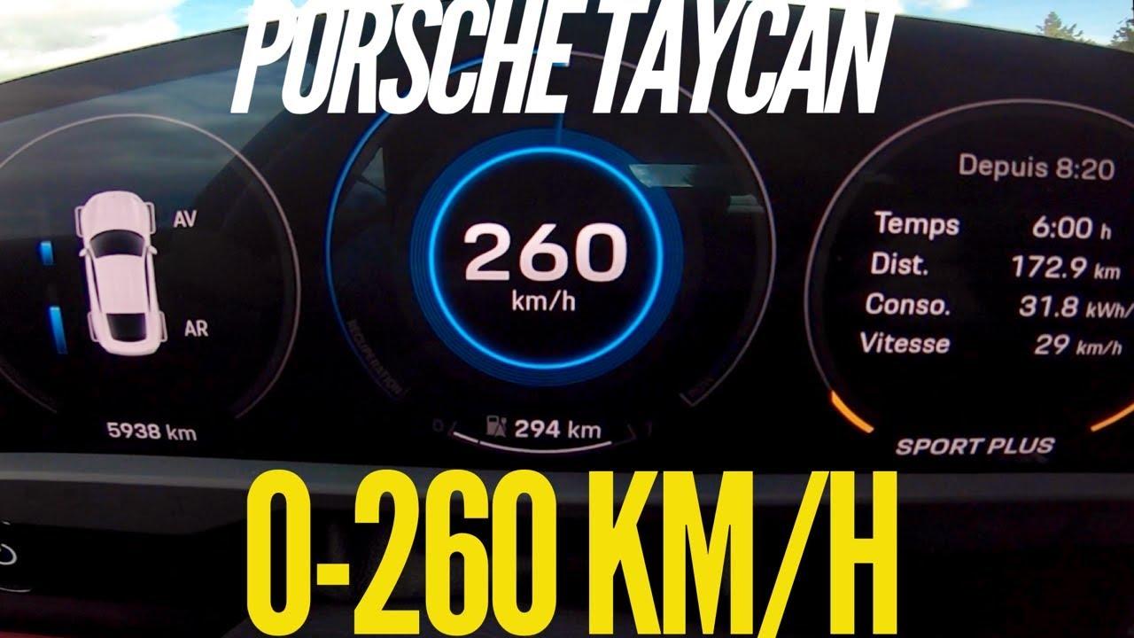 Porsche Taycan Turbo S: Šialená akcelerácia 0-260 km/h!