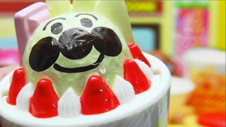 アンパンマン おもちゃ ファミレス 苺パフェ  ばいきんまん ハンバーグキャンペーン  Restaurant Gast  Hamburgsteak Campaign  ANPANMAN