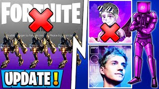 *NEW* Fortnite Update! | Servers Down, Faze Sway In Trouble, Cube Skin!