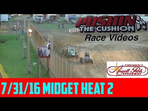 7/31/16 Angell Park Speedway: Midget Heat 2