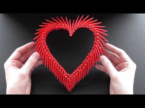 Origami Herz basteln mit Papier ❤ Bastelideen zum Geschenke selber machen