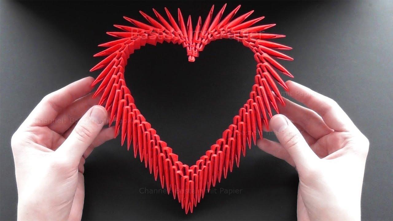 Origami Herz Basteln Mit Papier Bastelideen Zum Geschenke