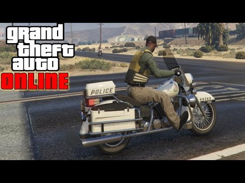 GTA V ROLEPLAY  - How to Get the Police Bike