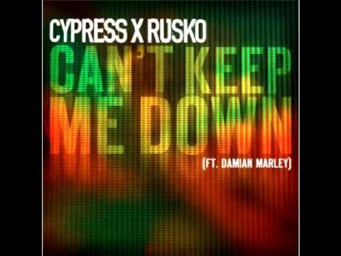 Cypress Hill & Rusko Feat. Damian Marley - Can't Keep Me Down (LYRICS) (2012)
