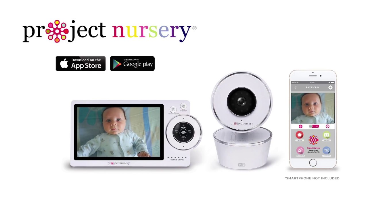 Project Nursery 5 Hd Dual Connect Baby Monitor System