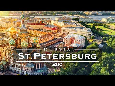 Санкт-Петербург, Россия 🇷🇺 - by drone [4K]