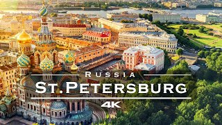 Saint Petersburg, Russia 🇷🇺 - by drone [4K]