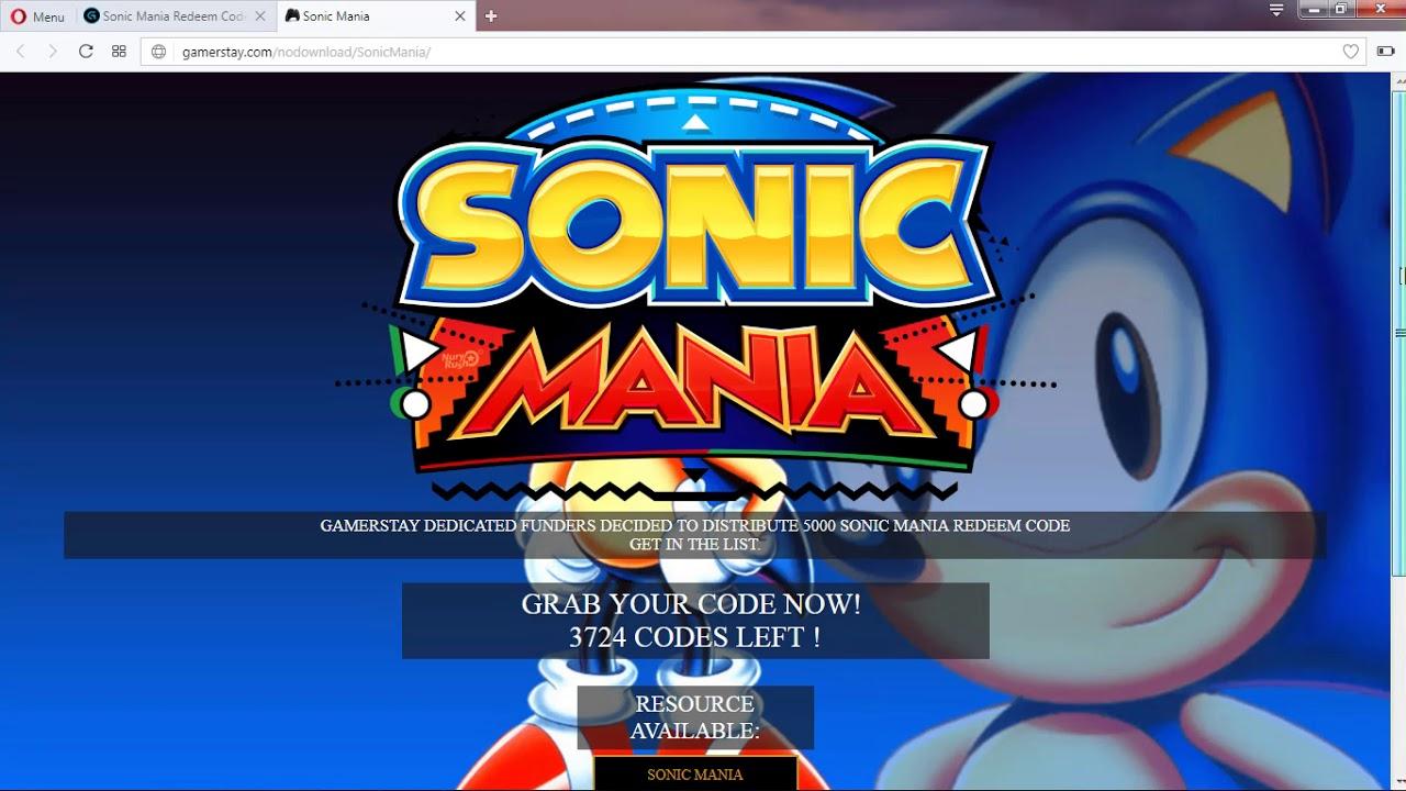 Скачать sonic mania demo