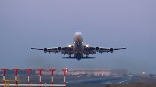 Boeing 747-400 F-HSUN Corsair International takeoff at Paris Orly Airport
