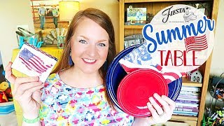 Patriotic Tablescape | Fiestaware | Decorate With Me!